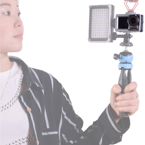 DIGITALFOTO OA-CA01 AVIATION ALLOY ALUMINUM OSMO ACTION CAGE WITH 2 COLD SHOE MOUNT