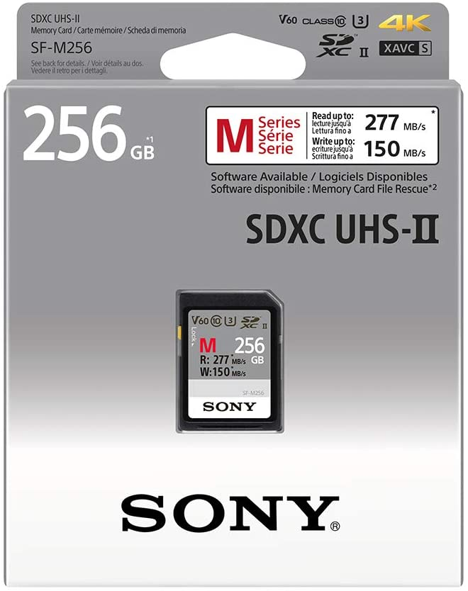 SONY SF-M256/T2 256GB UHS-II SDXC SD CARD 277/150 MB/S