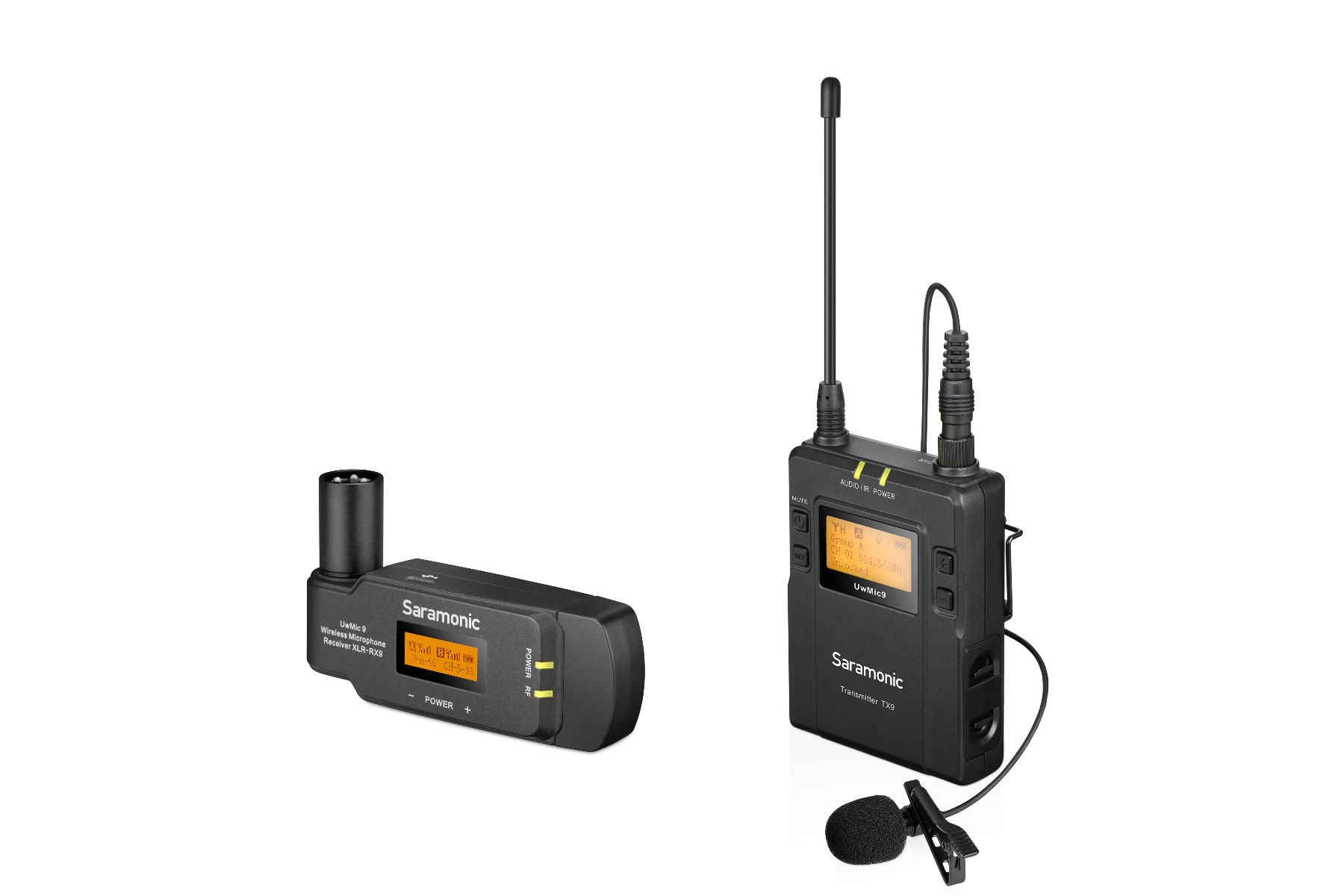 SARAMONIC UWMIC9 KIT7 UHF WIRELESS MICROPHONE SYSTEM (TX9+RX-XLR9)