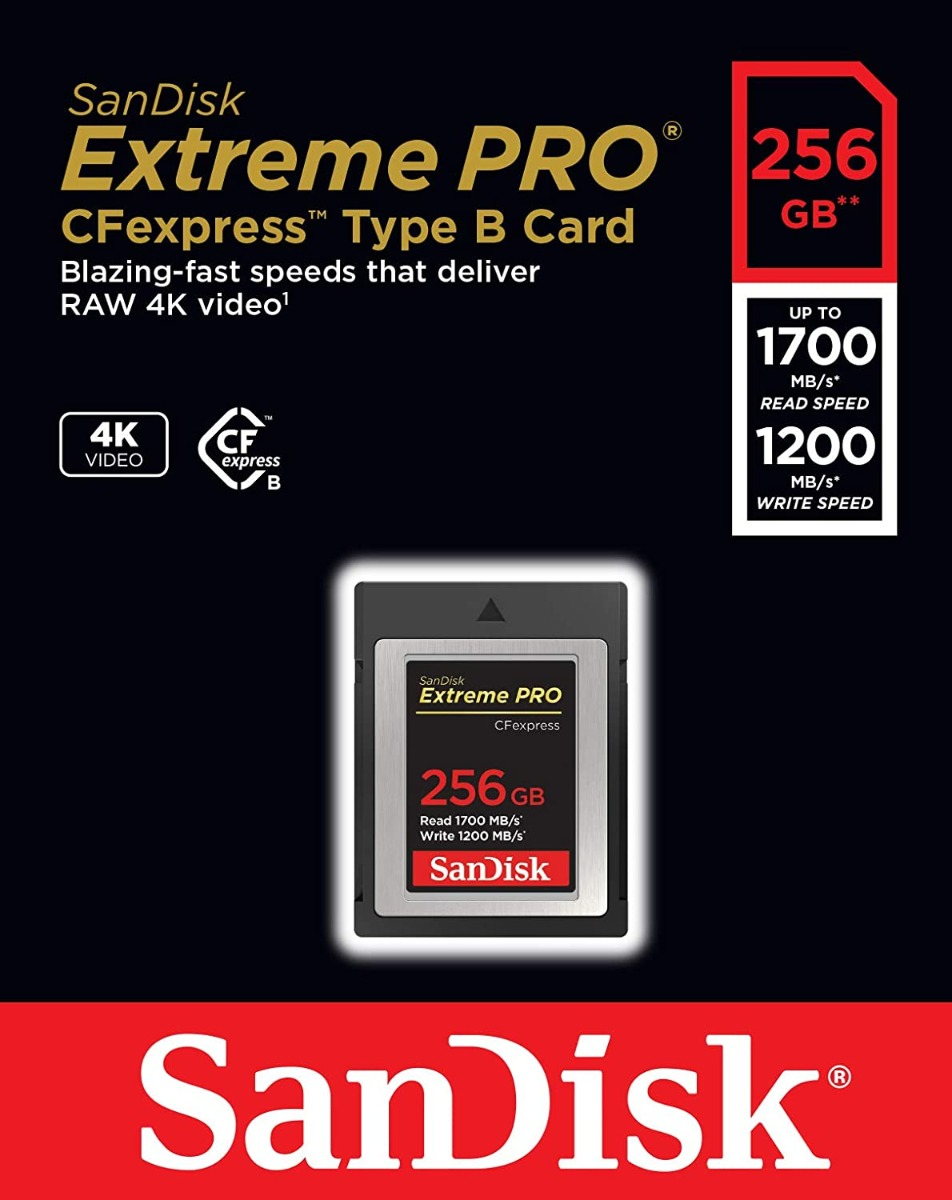 SANDISK 256GB EXTREMEPRO CFEXPRESS CARD TYPEB