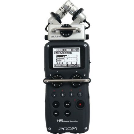 ZOOM H5 FOUR-TRACK PORTABLE RECORDER WITH INTERCHANGEABLE MIC SYSTEM