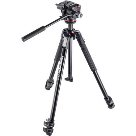 MANFROTTO MK190X3-2W 190X3 3-SECTION TRIPOD WITH MHXPRO-2W FLUID HEAD