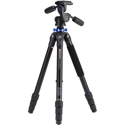 BENRO TMA28AHD2A SERIES 2 MACH 3 ALUMINUM TRIPOD WITH HD2 3-WAY PAN/TILT HEAD