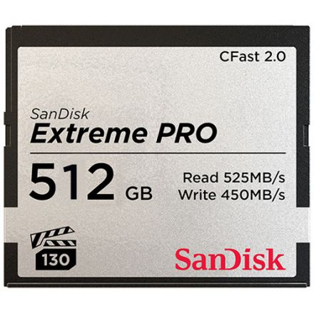 SANDISK 512GB EXTREME PRO CFAST 2.0 MEMORY CARD 525MB/S 3500X