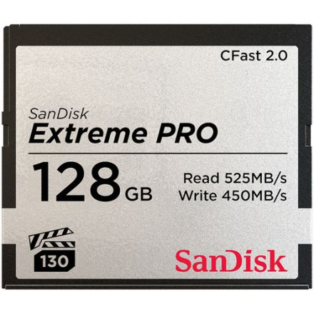 SANDISK EXTREME PRO CFAST 2.0 128GB 525 MB/S 3500X