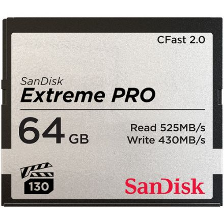SANDISK EXTREME PRO CFAST 2.0 64GB 525 MBS 3500X