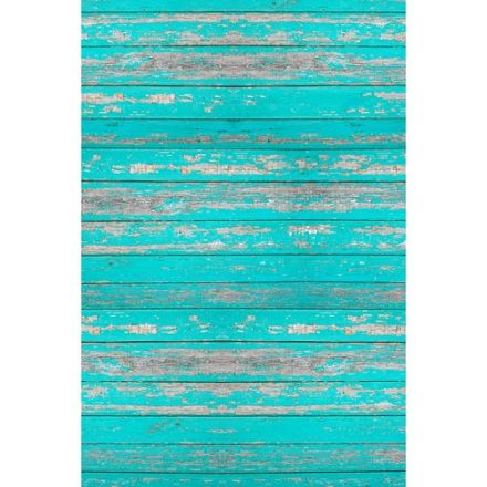 SAVAGE FD14845 DISTRESSED TEAL WOOD FLOOR DROPS 4' X 5'