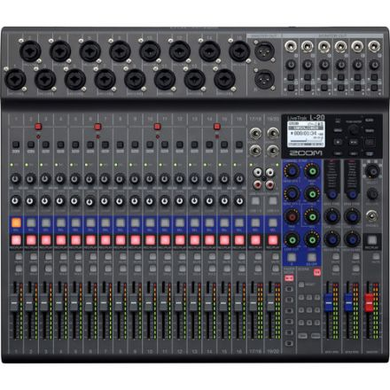 ZOOM L-20 LIVETRAK 20-INPUT DIGITAL MIXER & MULTITRACK RECORDER