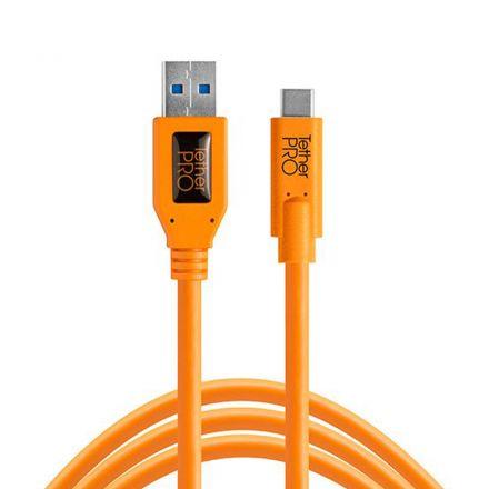 CUC3215-ORG - TETHERPRO USB 3.0 TO USB-C, 15' 4.6M
