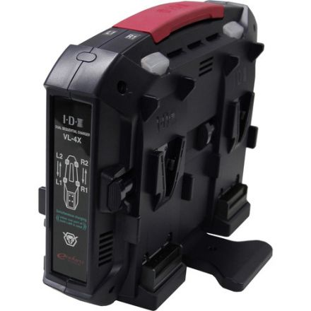 IDX VL-4X 4-CHANNEL V-MOUNT CHARGER WITH POWER SUPPLY