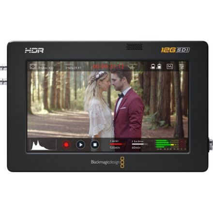 "BLACKMAGIC DESIGN HYPERD/AVIDA12/5HRD VIDEO ASSIST 5"" 12G-SDI/HDMI HDR RECORDING MONITOR"