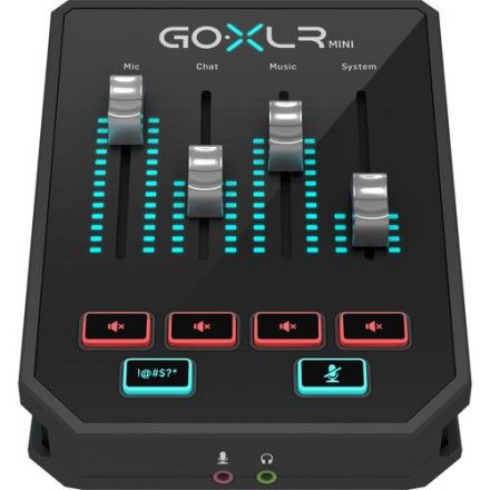 TC HELICON GOXLR MINI ONLINE BROADCAST MIXER WITH USB AUDIO INTERFACE