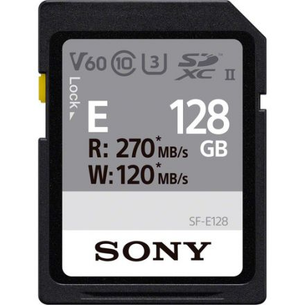 SONY SF-E128/T1 128GB E SERIES UHS-II SDXC MEMORY CARD 270/120 MB/S