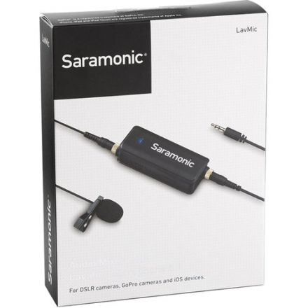 Saramonic LavMic Omnidirectional Lavalier Microphone with 2-Input Audio Mixer