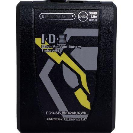 IDX IMICRO-98 97WH HIGH LOAD LI-ION V-MOUNT BATTERY W/ 2X D-TAPS