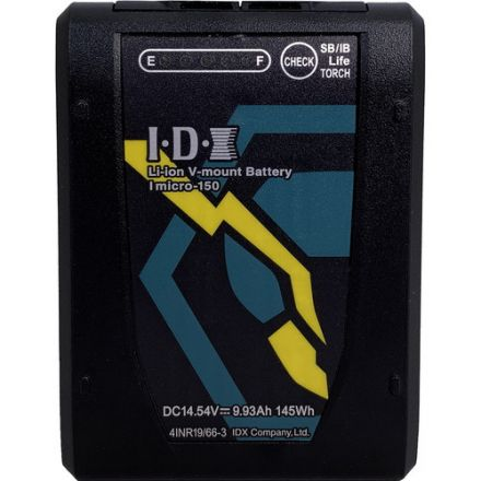 IDX IMICRO-150 145WH HIGH LOAD LI-ION V-MOUNT BATTERY W/ 2X D-TAPS