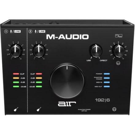 M-AUDIO AIR192X6 2IN2 OUT USB AUDIO MIDI W/ 2 MIC INPUT