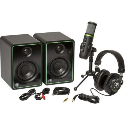 "MACKIE CREATOR BUNDLE 3"" MULTIMEDIA MONITORS, USB MICROPHONE AND HEADPHONES"