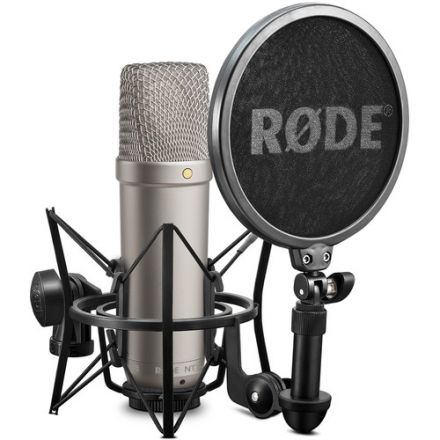 RODE NT1-A CARDIOID MICROPHONE (KIT W/ SMR SHOCKMOUNT)