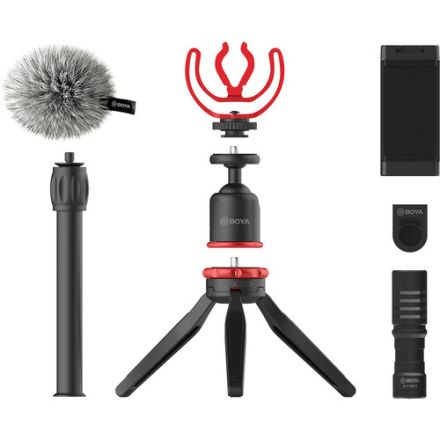 BOYA BY-VG330 SMARTPHONE VLOGGER KIT WITH BY-MM1 MIC AND ACCESSORIES
