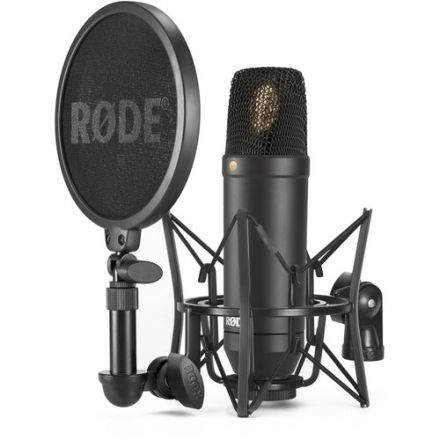 RODE NT1 SINGLE CARDIOID CONDENSER MICROPHONE WITH SHOCKMOUNT