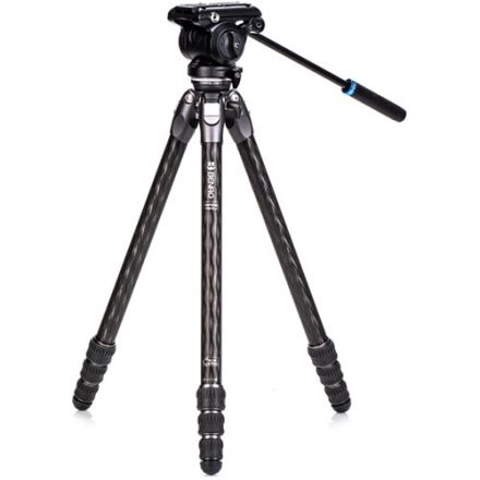 BENRO TTOR24CLVS4PRO TORTOISE CARBON FIBER 2 SERIES TRIPOD SYSTEM WITH S4PRO VIDEO HEAD