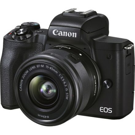 CANON EOS M50 MARK II MIRRORLESS DIGITAL CAMERA WITH 15-45MM LENS (BLACK)