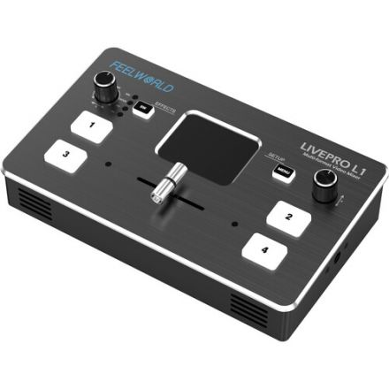 FEELWORLD LIVEPRO L1 MULTICAMERA VIDEO SWITCHER WTH 4X HDMI INPUTS & USB STREAMING