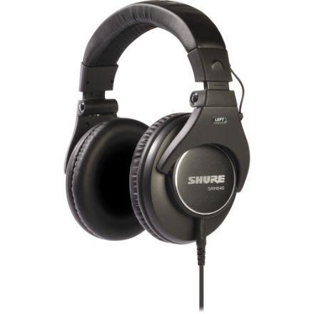 SHURE SRH840-BK CLOSED-BACK OVER-EAR PROFESSIONAL MONITORING HEADPHONE