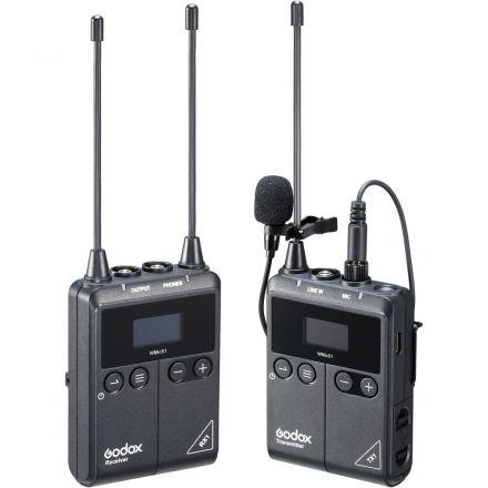 GODOX WMICS1 KIT 1 UHF WIRELESS LAVALIER MICROPHONE SYSTEM SINGLE KIT