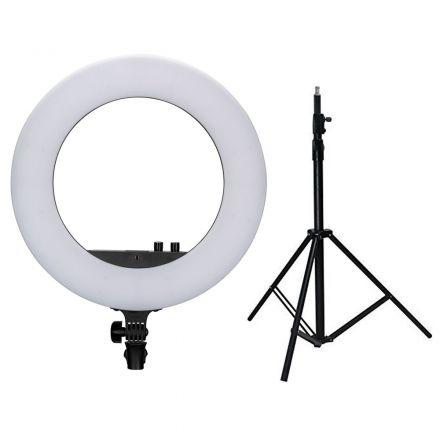 "NANLITE LS-170-5/8 LIGHT STAND+18"" RING LIGHT W-GIFT BUNDLE"