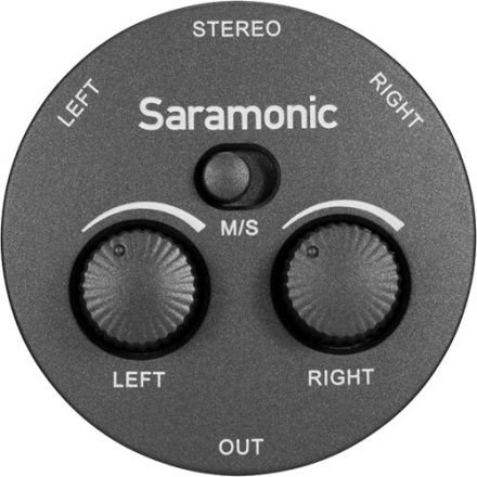 SARAMONIC AX1 PASSIVE 2-CHANNEL AUDIO MIXER FOR CAMERAS, SMARTPHONES, TABLETS AND COMPUTERS