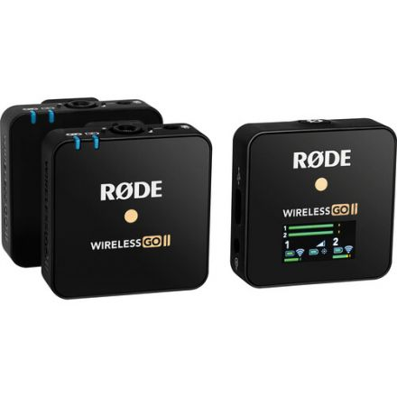 RODE WIRELESS GO II 2-PERSON COMPACT DIGITAL WIRELESS MICROPHONE SYSTEM/RECORDER (2.4GHZ, BLACK)