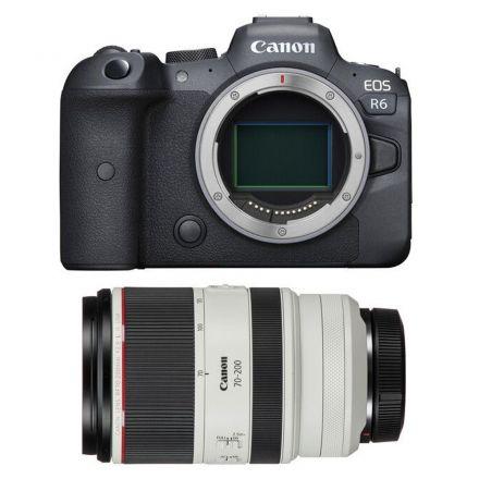 CANON EOS R6 MIRRORLESS DIGITAL CAMERA+-CANON RF 70-200MM F/2.8L-GIFT BUNDLE