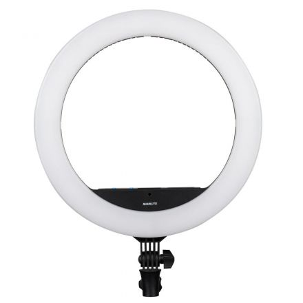 NANLITE HALO 16C BI-COLOR LED RING LIGHT RGB MIRROR W/ BAG