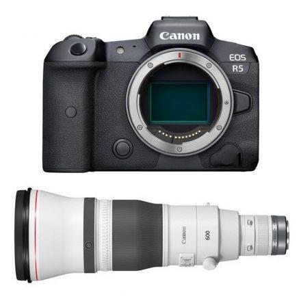 CANON EOS R5 MIRRORLESS DIGITAL CAMERA (BODY ONLY)+RF 600MM F4 L IS USM LENS-BUNDLE