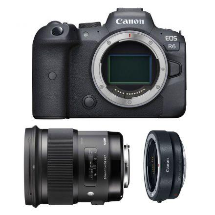 CANON EOS R6 MIRRORLESS DIGITAL CAMERA+ SIGMA 50MM F/1.4 DG+EF-EOS R MOUNT BUNDLE