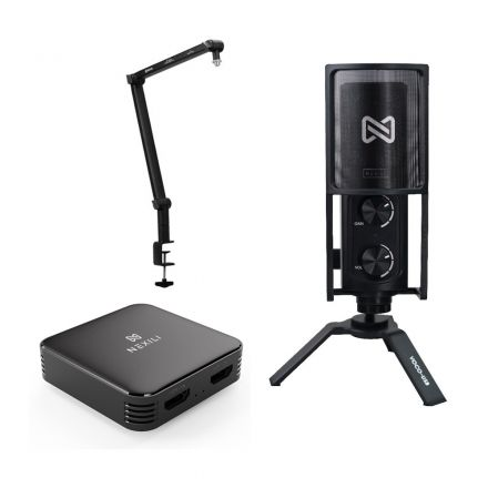 NEXILI VOCO USB MICROPHONE FOR WINDOWS, ANDROID AND IOS WITH GAIN+BOYA BY-BA30 +NEXILI VIRTA HDMI 4K60 CAPTURE CARD-BUNDLE