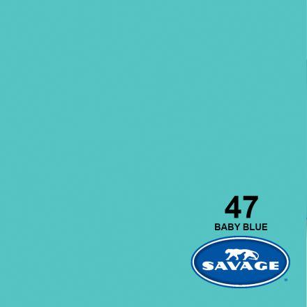 SAVAGE 47-1253 WIDETONE SEAMLESS BACKGROUND PAPER BABY BLUE (A2 1.35M X 11M)