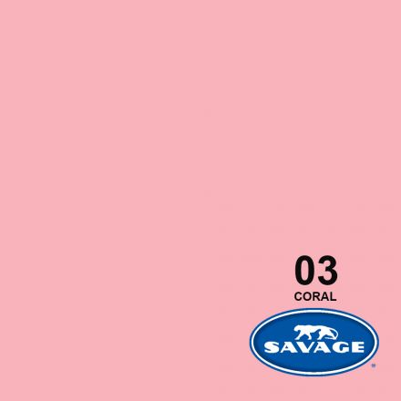 SAVAGE 03-12 WIDETONE SEAMLESS BACKGROUND PAPER CORAL (A1 2.72M X 11M)