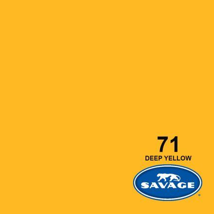 SAVAGE 71-1253 WIDETONE SEAMLESS BACKGROUND PAPER DEEP YELLOW (A2 1.35M X 11M)