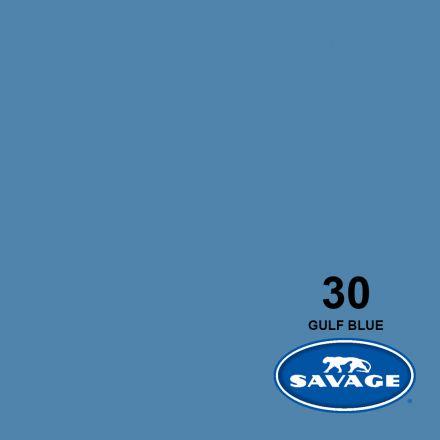 SAVAGE 30-1253 WIDETONE SEAMLESS BACKGROUND PAPER GULF BLUE (A2 1.35M X 11M)