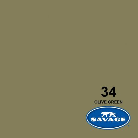 SAVAGE 34-12 WIDETONE SEAMLESS BACKGROUND PAPER OLIVE GREEN (A1 2.72M X 11M)