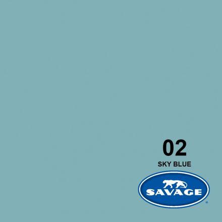 SAVAGE 2-12 WIDETONE SEAMLESS BACKGROUND PAPER SKY BLUE (A1 2.72M X 11M)