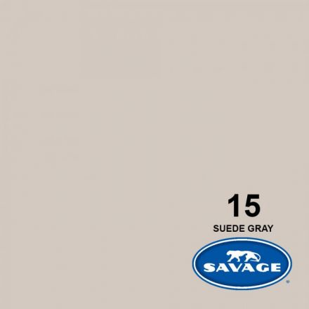 SAVAGE 15-1253 WIDETONE SEAMLESS BACKGROUND PAPER SUEDE GRAY (A2 1.35M X 11M)