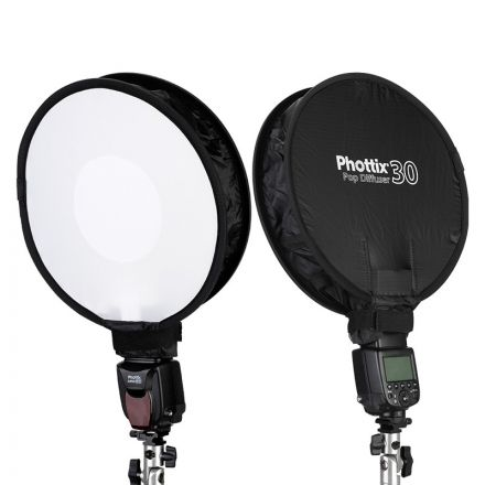 PHOTTIX POP DIFFUSER 30 ON-FLASH SOFTBOX