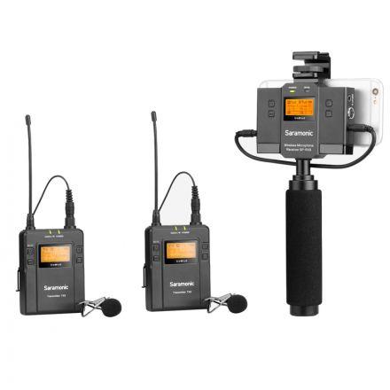 SARAMONIC UWMIC9 KIT13 UHF WIRELESS MICROPHONE SYSTEM (TX9+TX9+UWMIC9 SPRX9)