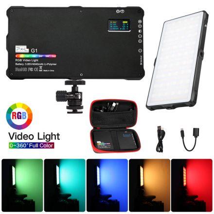 PIXEL G1 RGB 0-360 BI-COLOR RECHARGEABLE POCKET SIZED ON-CAMERA LED VIDEO LIGHT 3200K-5600K
