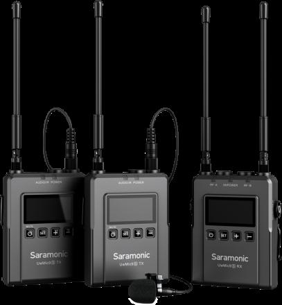 SARAMONIC UWMIC9S KIT2 WIRELESS MICROPHONE SYSTEM (TX+TX+RX)