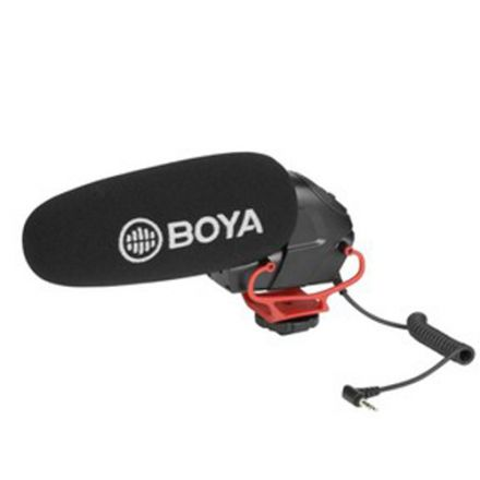BOYA BY-BM3031 R ON-CAMERA SHOTGUN MICROPHONE (RED BRACKET VERSION)